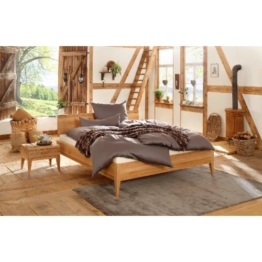 Premium Collection by Home affaire Wildeiche Massivholz-Bett MINIMUS Vegan und Metallfrei Allergiker geeignet, wildeiche