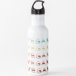 VEGAN - gestapelte Aquarell VEGANS Wasserflasche