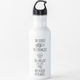 Vegan - Mit Pflanzen befeuert Wasserflasche