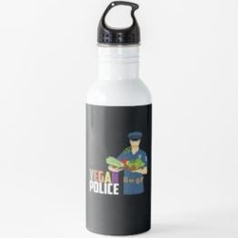 Vegan - Vegan Polizei Wasserflasche
