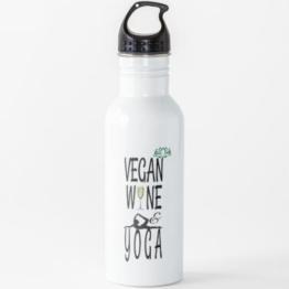 Vegan - Wein - & Yoga Wasserflasche