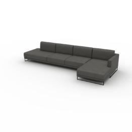 Ledersofa Schiefergrau Veganes Leder - Elegantes, gemütliches Ledersofa: Hochwertige Qualität, einzigartiges Design - 372 x...