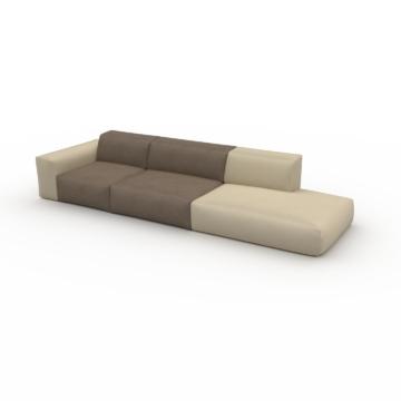 Ledersofa Taupebeige Veganes Leder - Elegantes, gemütliches Ledersofa: Hochwertige Qualität, einzigartiges Design - 343 x 72...