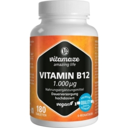 Vitamin B12 1.000 µg hochdosiert vegan T 180 St