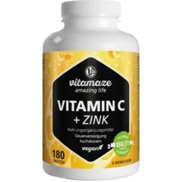 Vitamin C 1000 mg hochdosiert+Zink vegan 180 St