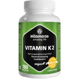 Vitamin K2 200 µg hochdosiert vegan Tabl 180 St