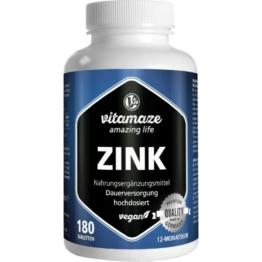 ZINK 25 mg hochdosiert vegan Tabletten 180 St