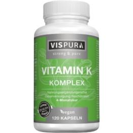 Vitamin K1+k2 Komplex hochdosiert vegan 120 St